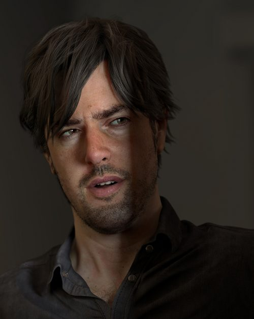 3d Portrait of David Spriggs