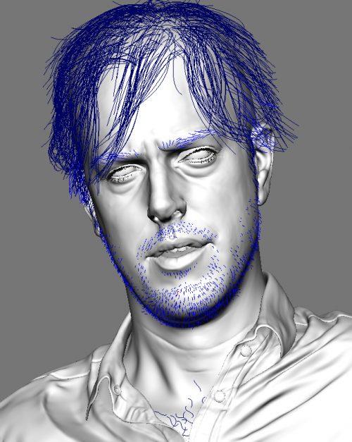Ian Spriggs Portrait of David_STEP11-HAIR
