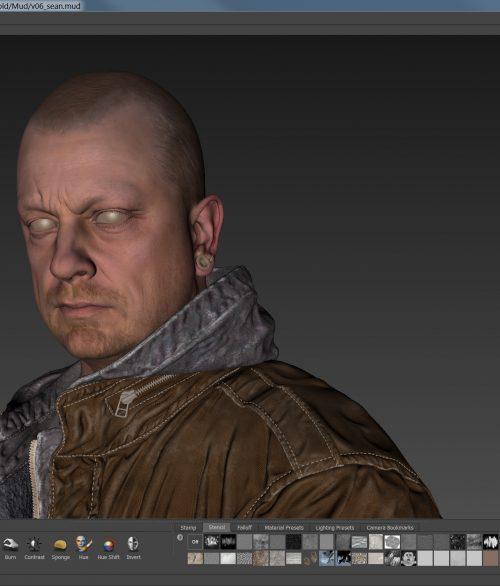 Ian Spriggs_Portrait of Sean25 TEXTURING